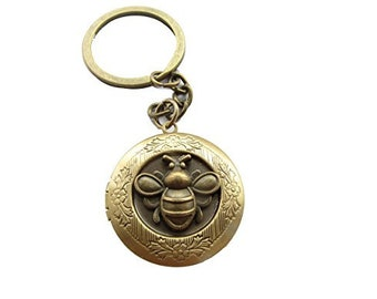 Honey Bee Perfume Locket Keychain~choose your fragrance