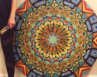 Mandala painting, Acrylic painting on wood, Wall hanging mandala art, Geometric art, Sacred geometry, original art, Meditation altar mandala