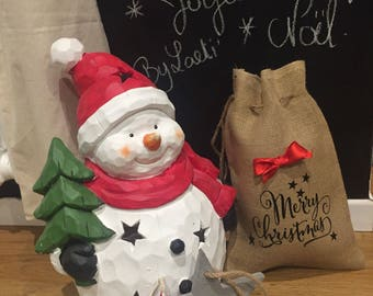 """Merry Christmas"" burlap bag"