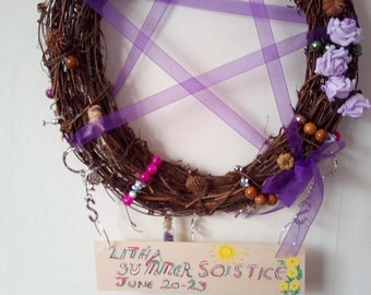 Pagan wreath, wall hanging, home decor, gift, celebration, apology, teens,talking point,