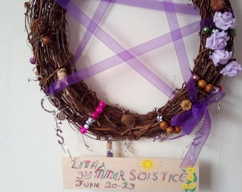 Pagan Wreath, Wall Hanging, Home Decor, Gift, Celebration, Apology, Teens