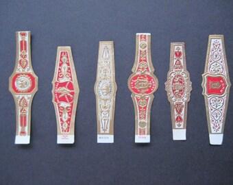Six Assorted Cigar labels