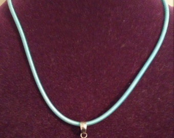 Gorgeous Sparkly Blue Topaz with Aquamarine Pendant Silver Sterling Necklace