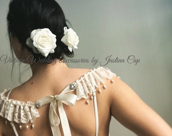 Lace Shoulder Necklace, Bride Necklace, Shoulder Necklace , Lace Necklace, Wedding Accessories, Shoulder Jewellery, Bridal Jewellery