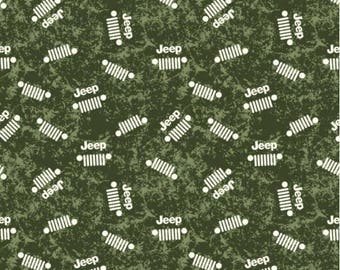 Jeep Fabric / J is For Jeep Fabric By Riley Blake. 100% cotton, C6473 / Yardage and Fat Quarters