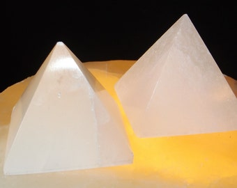 Rare Selenite Pyramid / Peace / Tranquility / Protection