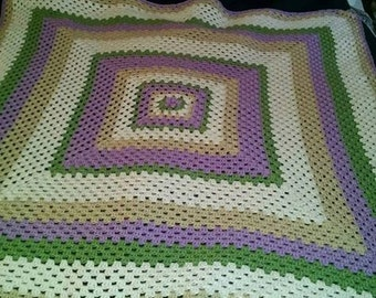 Custom crochet afghan.Snuggle up and watch a movie, this afghan is waiting for you