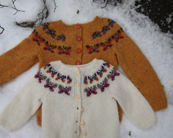 Icelandic wool sweater for children