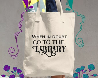 Book Lover Gift for Best Friend, College Student Gift, Graduation Gift, Book Bag, Literary Gift for Her, Librarian Gift, Shoulder Bag