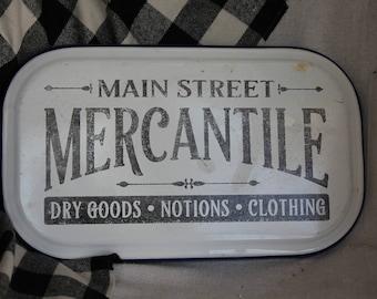 Vintage enamelware / enamel sign mercantile