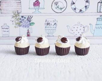 4 stitch markers knitting Cupcake coffee