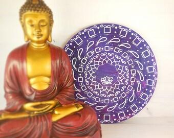 Mandala parete dipinto a mano per meditazione, arredo centro yoga, camera, simboli religiosi, spiritualità e risveglio, regalo anniversario.