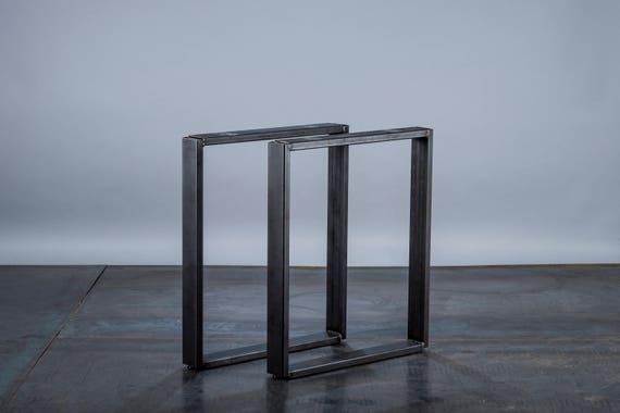SET Of 2 Rectangular Steel Tube Table Legs Dining/hall Table
