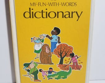 Vintage The My Fun With Words Dictionary Book 1 A-K Kids Childrens Homeschool