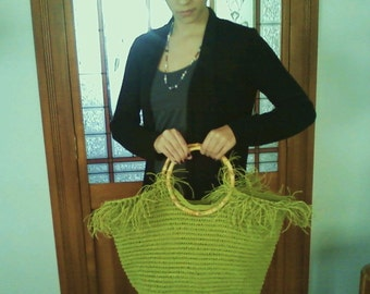 CLEARANCE SALE Green Hemp Tote