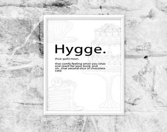 printable art, hygge quote, diet art print, kitchen printables, kitchen wall art, living room printable decor, instant digital download
