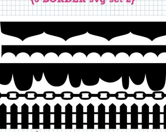 5 Border SVG DXF Set 2