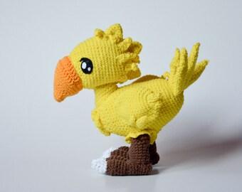 Choco Birdie crochet PATTERN  by Krawka, ff, video game
