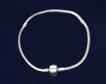7.5 in Silver Chunky Charm Bracelets (RE-JPART-B-47B)