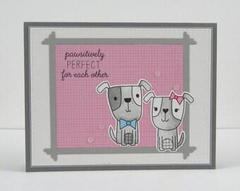 Dog Anniversary Card, Dog Love Card, Handmade Dog Card