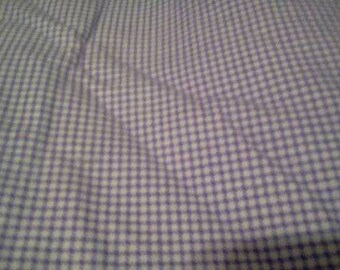 1 1/3 yards of FLANNEL Purple Gingham fabric