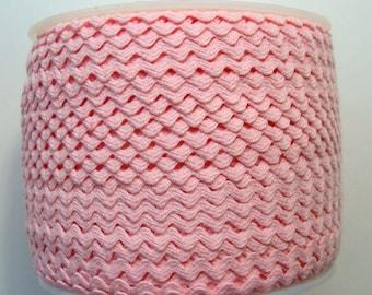 "7/32"" Rick Rack - Polyester - Light Pink"