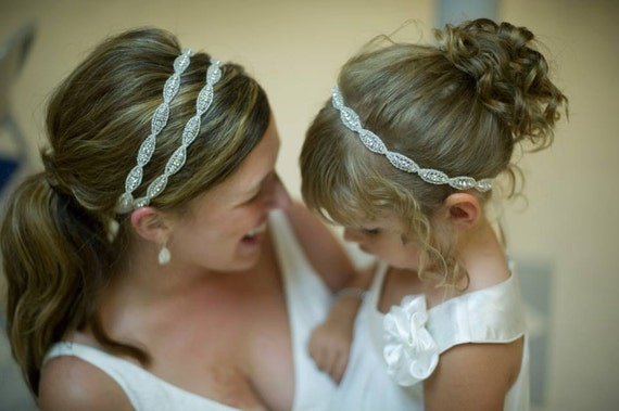 Bridal Headband Weddings Hair Accessories Flower Girl
