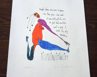 Brian Andreas Story People Aerobics 1993 Signed Print