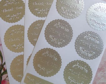 Pack of 28 stickers aluminum lace
