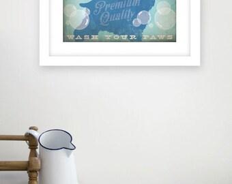 Cocker Spaniel soap company bathroom washroom artwork giclee archival signed artists print