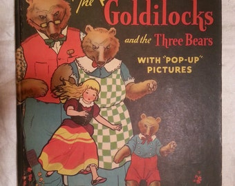 Goldilocks and the Three Bears Pop Up Book PopUp Pictures 1934 Blue Ribbon Press