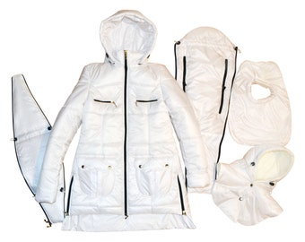 3 in 1 Maternity Coat/Jacket Baby Carring Black, Baby and Mother Coat, baby carrying jacket, baby carrying coat, Pregnancy Coat, Mum Jacket