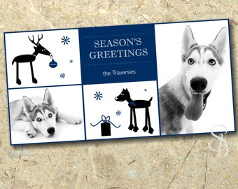 Dog Photo Christmas Card DIY
