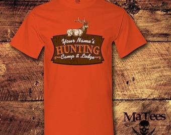 Personalized, Personalized Gift, Men's Personalized, Hunting Lodge Decor, Hunting, Hunting Gifts, Hunting Decor, Deer Hunting, T-Shirt, Tee