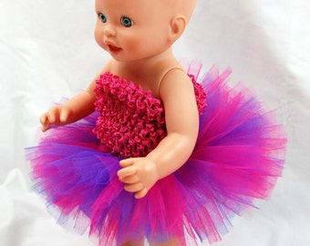 Shockingly Girly Doll Tutu - Fits American Girl Dolls, My Generation Dolls, and Baby Dolls