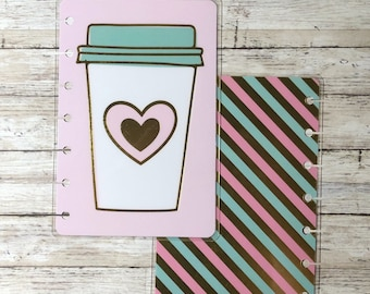 Coffee Pink Mini Happy Planner Cover