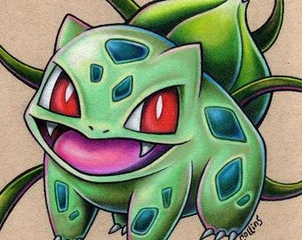 Bulbasaur Pokemon Art Print