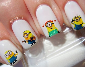 42 Minions Nail Decals