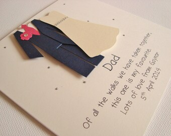 Personalised Handmade Dad Father of the Bride Wedding Day Card