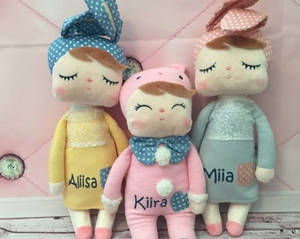Personalized Doll. Plush Doll. Soft Plush Material. Professional Personalization. Girls First Doll. Original Metoo Bunny Doll.