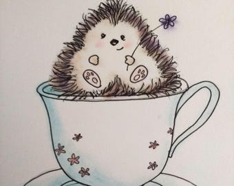 Cute Hedgehog mother's day card