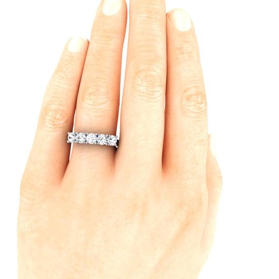 5 Stone 4mm MOISSANITE Anniversary Band Engagement Ring