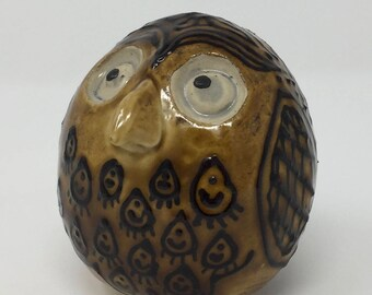 Ceramic Owl, Handmade, Teacher Gift, Grad Gift