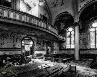 Die To Live Fine Art  Photographic Print, abandoned Pittsburgh