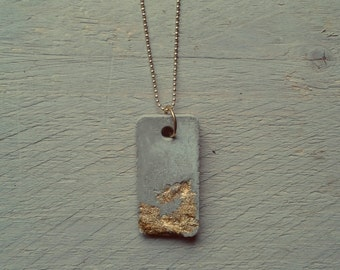 Concrete goldleaf necklace