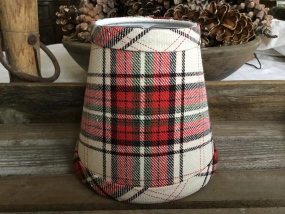 Plaid chandelier lampshade plaid shade tartan chandelier aloadofball Image collections