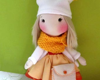 Handmade cloth doll Margaret, cloth doll, collectible doll