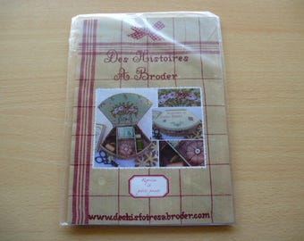 """embroidery for the realization of a brand """"stories embroidery"""" shell shaped gift box"""