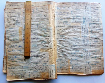 1935 Pharmacy Prescriptions - Very Large Vintage Ledger Pages