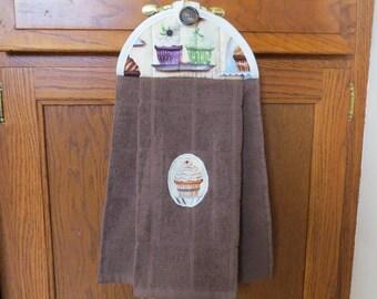 Hanging Kitchen Towel Cupcake Dish Towel Hanging Hand Towel Hanging Tea Towel Hanging Dish Towel Tie Towel